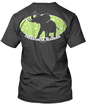 LIME Look Pachyderm Morrocan Oval Comfort Colors Short Sleeve Tee