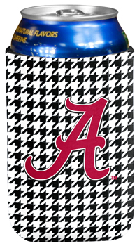 Script A Houndstooth Can Koozie