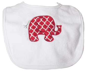 Infant Elephant Lattice Bib