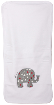 Infant Elephant Multi Colored Polka-Dot Burp Cloth