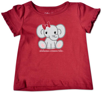 Multi-Dot Elephant Ruffle Sleeve Tee