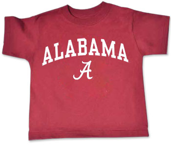 Arched Alabama/Script A Toddler Tee