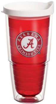 Athletic Seal Crimson Colored 24oz Tumbler