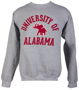 Pachyderm Classic Applique Fleece Crew