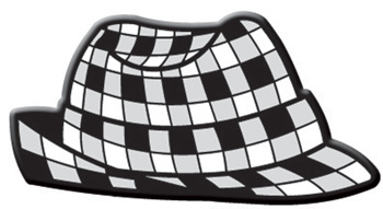 Houndstooth Fedora Pin