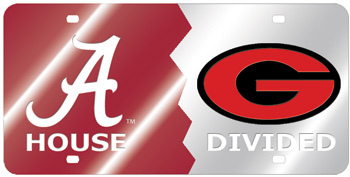 Georgia House Divided Mirror Car Tag