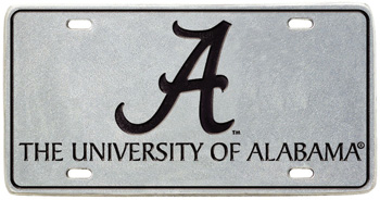 Script A/University Pewter Tag