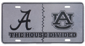Script A/AU Auburn House Divided Pewter Tag
