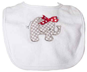 Infant Elephant Polka-Dot Bib
