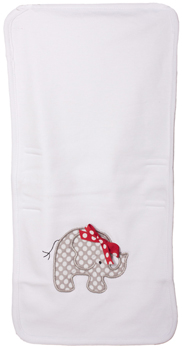 Infant Elephant Polka-Dot Burp Cloth