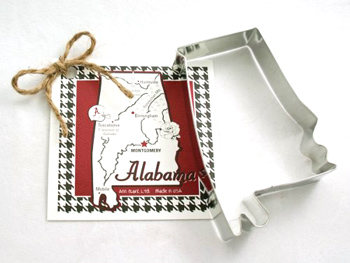 State of Alabama Cookie Cutter