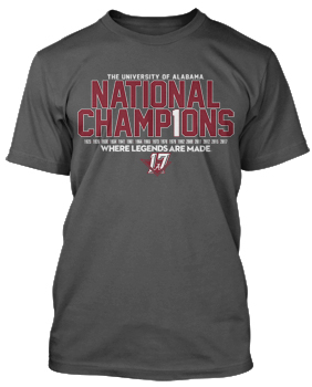 National Champs Bar Design S/S Tee