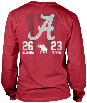 National Champs CFP Endrun Score Long Sleeve Tee