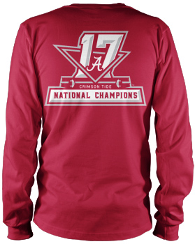 National Champs Comfort Colors Champs Logo L/S Tee