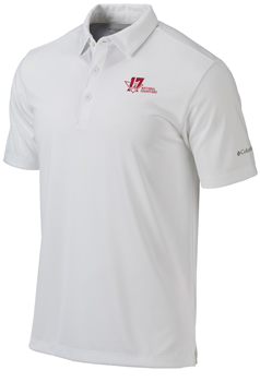 National Champs Columbia Drive Polo - White