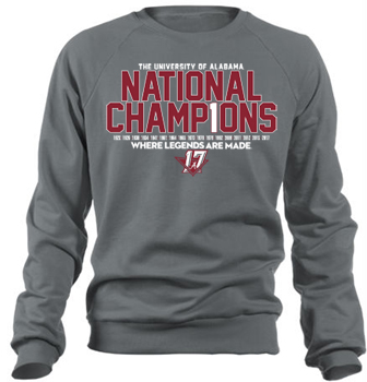 National Champs Bar Design Crew Sweatshirt