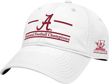 National Champs Split-Bar Cap - White