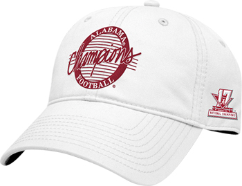 National Champs Circle Cap - White