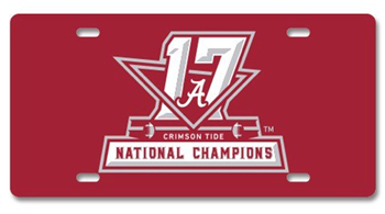 National Champs Metal Car Tag