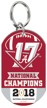 National Champs Aluminum Key Chain