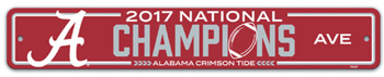 National Champs Plastic Street Sign