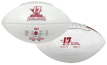 National Champs Youth Mini Autographable Football