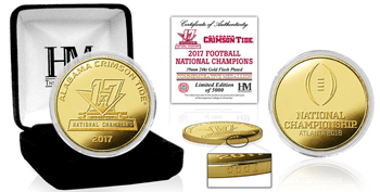 National Champs Gold Mint Coin