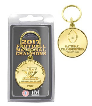 National Champions Bronze Coin Keychain