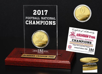 National Champs Gold Coin Deskset