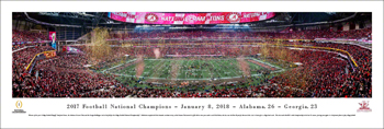 National Championship Celebration Panorama Print