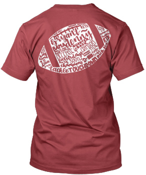 Hand Drawn Football Verbiage Comfort Colors Pocket Tee