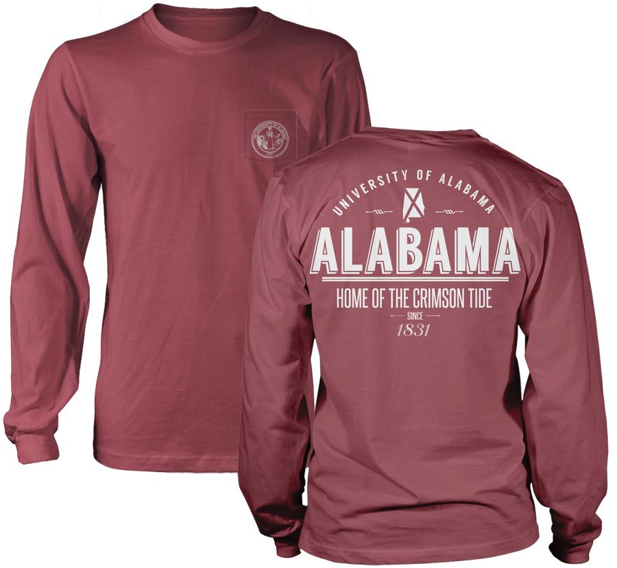 befdeb1bc Alabama State Retro Comfort Colors Long Sleeve Pocket Tee
