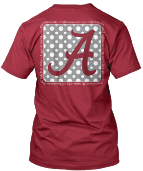 Script A Polka-Dot Verbiage Comfort Colors Pocket Tee