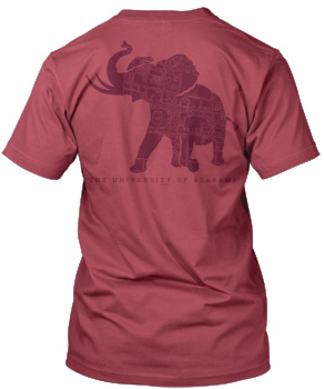 Pachyderm Tuscaloosa Map Crimson Comfort Colors Tee