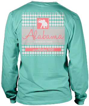 Pachyderm Collection Lattice Block Long Sleeve Comfort Colors Tee