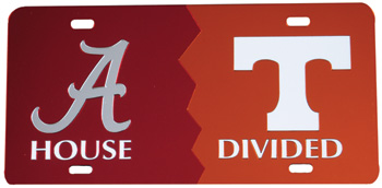 Tennessee House Divided Mirror Car Tag