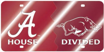 Arkansas House Divided Mirror Car Tag