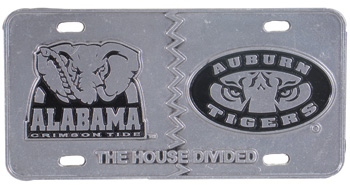 Elephant/Tiger Auburn House Divided Pewter Tag