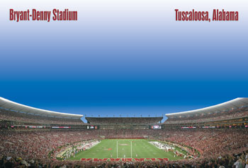 Bryant-Denny Panoramic Postcard