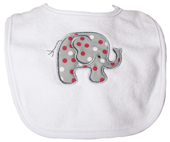 Infant Elephant Multi Colored Polka-Dot Bib