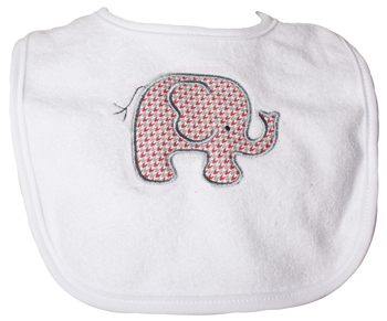Infant Elephant Houndstooth Bib