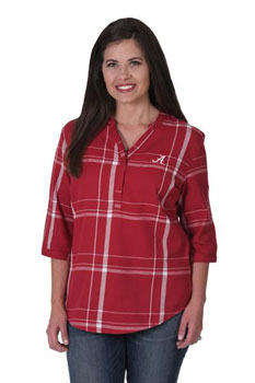 Alabama Script A Plaid Tunic