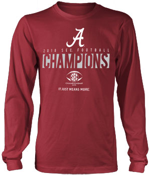 2018 SEC Champs Official Locker Room Long Sleeve Tee