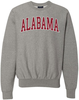 Arched Alabama Pro-Weave Crew Neck Sweat