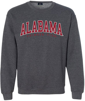 Arched Alabama Crimson Tide Crew Neck Sweat