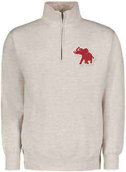 Pachyderm Distressed Patch Quarter-Zip Pullover