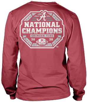 National Champs Comfort Colors Champs Logo Long Sleeve Tee