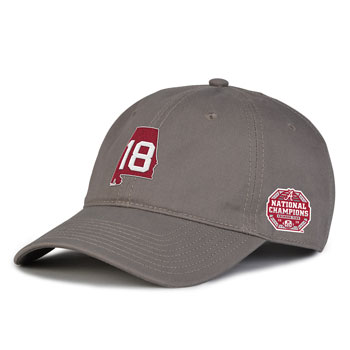 National Champs State/18 Cap - Charcoal