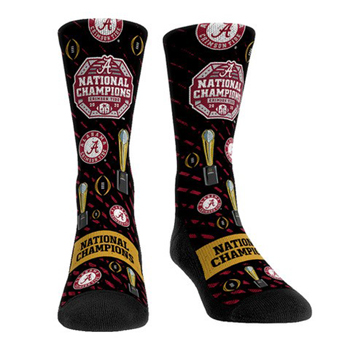 National Champs All Over Design Socks