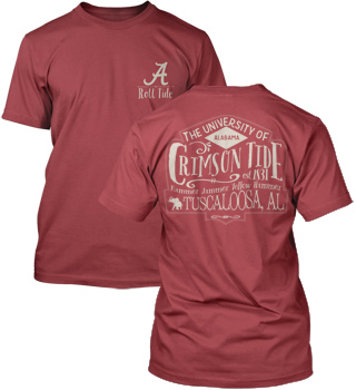 Vintage Crimson Tide Comfort Colors Pocket Tee